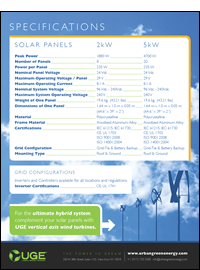 Residential Solar Specifications